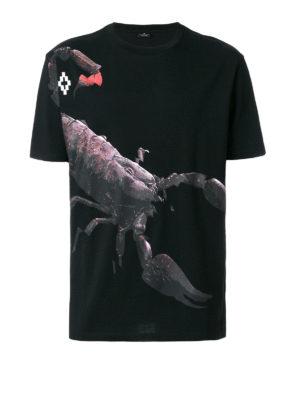 Marcelo Burlon: t-shirts - Talj print cotton T-shirt