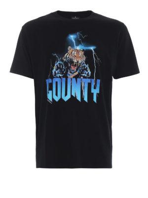 Marcelo Burlon: t-shirt - T-shirt Tiger in cotone nero