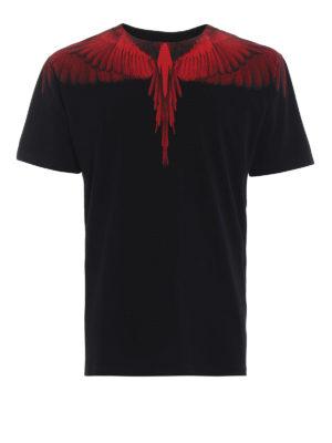 Marcelo Burlon: t-shirt - T-shirt Wings nera e rossa