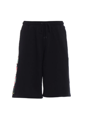 Marcelo Burlon: tracksuit bottoms - Flags sporty short trousers