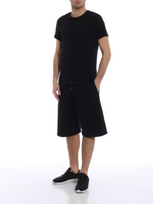 Marcelo Burlon: tracksuit bottoms online - Flags sporty short trousers