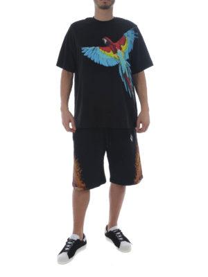 Marcelo Burlon: tracksuit bottoms online - Flame Wings short track pants