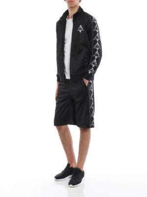 Marcelo Burlon: tracksuit bottoms online - Kappa sporty bermuda shorts