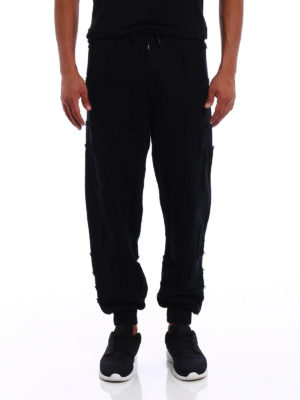 Marcelo Burlon: tracksuit bottoms online - Nom exposed stitching sweat pants