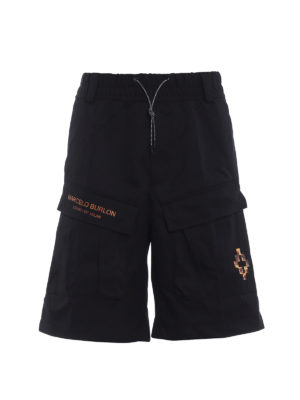 Marcelo Burlon: Trousers Shorts - Fire Cross cargo short trousers