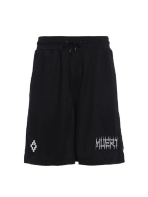 Marcelo Burlon: Trousers Shorts - Orlando techno jersey short pants