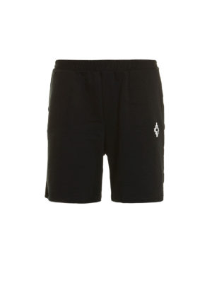 Marcelo Burlon: Trousers Shorts - Paco jersey cotton short pants