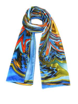 Maria Enrica Nardi: scarves - Grace print double velvet scarf