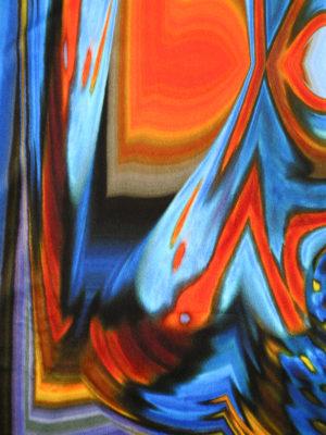 Maria Enrica Nardi: scarves online - Grace print double velvet scarf