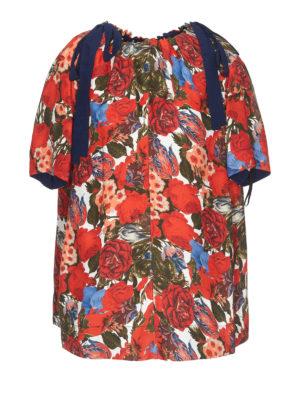 0323792561a80 Marni  bluse - Blusa a maniche corte in twill Duncraig