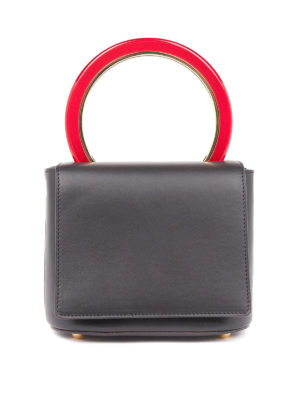 Marni: bowling bags - Pannier leather hand bag