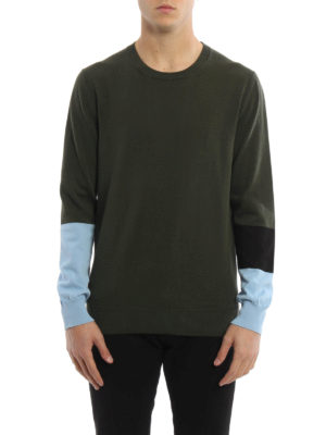 Marni: crew necks online - Striped sleeve cotton sweater