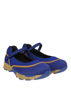 Marni: sneakers online - Slip-on tessuto tecnico vivid blu con Velcro