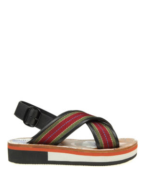 Marni: sandals - Fabric and leather sandals