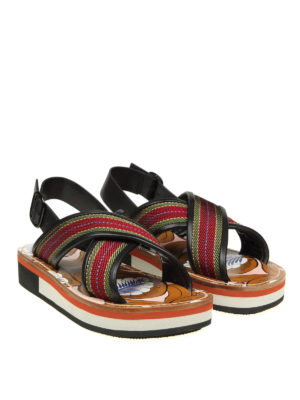 Marni: sandals online - Fabric and leather sandals