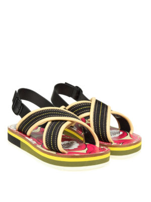 Marni: sandals online - Leather and fabric sandals