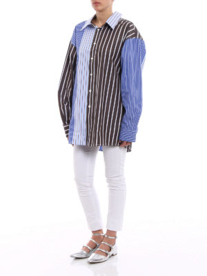 Marni: shirts online - Striped cotton oversized shirt