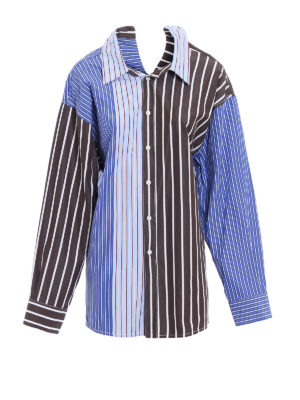 Marni: shirts - Striped cotton oversized shirt