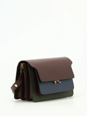 Marni: shoulder bags online - Trunk saffiano leather shoulder bag