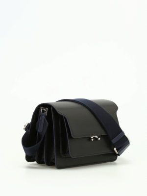 Marni: shoulder bags online - Trunk smooth leather shoulder bag