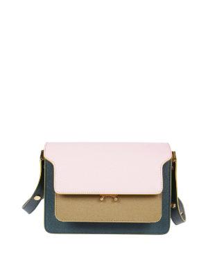 Marni: shoulder bags - Trunk Bag multicolour saffiano shoulder bag
