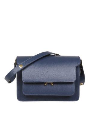 Marni: shoulder bags - Trunk blue leather shoulder bag