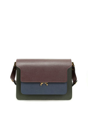 Marni: shoulder bags - Trunk saffiano leather shoulder bag