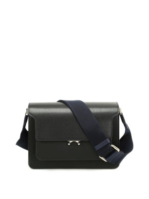 Marni: shoulder bags - Trunk smooth leather shoulder bag