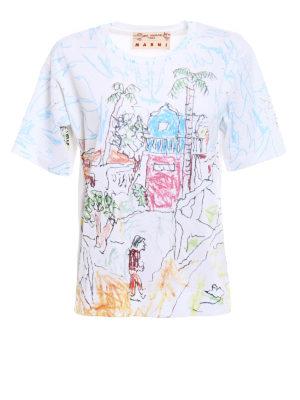 Marni: t-shirts - Maria Magdalena Suarez print Tee