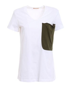 Marni: t-shirts - Maxi pocket jersey T-shirt