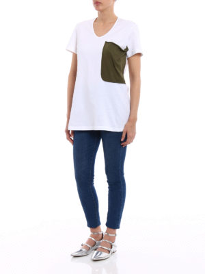 Marni: t-shirts online - Maxi pocket jersey T-shirt