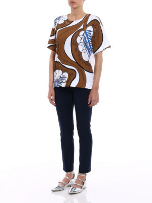 Marni: t-shirts online - Patterned print over T-shirt