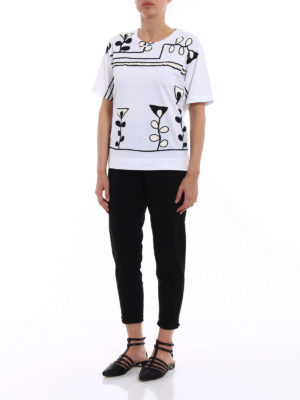 Marni: t-shirts online - Stylized print over T-shirt