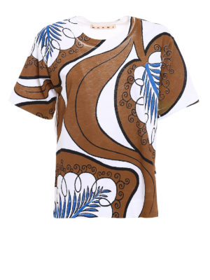 Marni: t-shirts - Patterned print over T-shirt