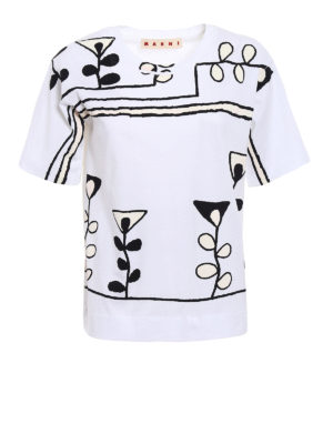 Marni: t-shirts - Stylized print over T-shirt