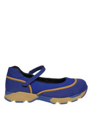 Marni: sneakers - Slip-on tessuto tecnico vivid blu con Velcro