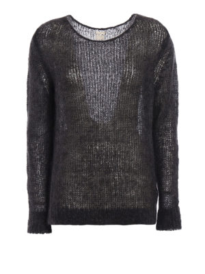 Massimo Alba: boat necks - Melange alpaca blend sweater
