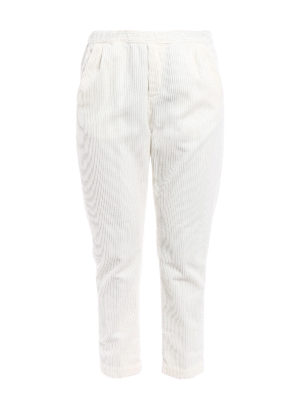 Massimo Alba: casual trousers - Corduroy straight leg trousers