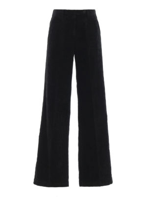 MASSIMO ALBA: pantaloni casual - Pantaloni neri Lamna in velluto a coste