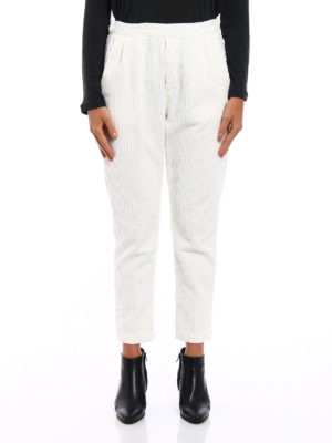 Massimo Alba: casual trousers online - Corduroy straight leg trousers
