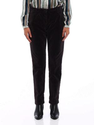 Massimo Alba: casual trousers online - Velvet straight leg trousers