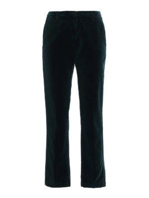 Massimo Alba: casual trousers - Velvet straight leg trousers
