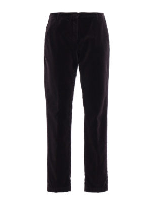 Massimo Alba: casual trousers - Velvet straight leg trousers