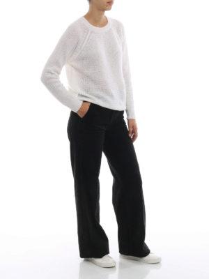 MASSIMO ALBA: pantaloni casual online - Pantaloni neri Lamna in velluto a coste
