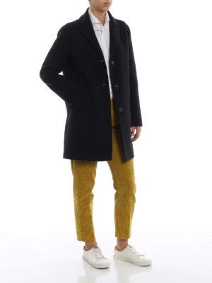MASSIMO ALBA: cappotti corti online - Cappotto Madrid blu navy in panno di lana