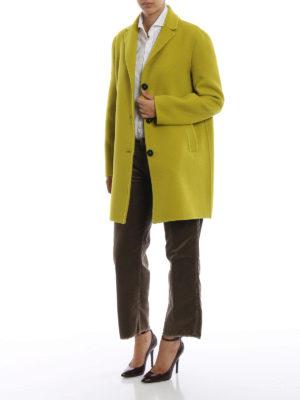 MASSIMO ALBA: cappotti corti online - Cappotto Madrid in panno di lana giallo lime