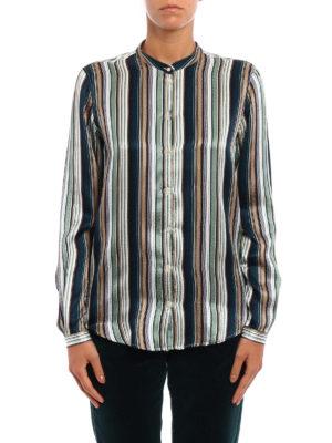 Massimo Alba: shirts online - Vertical striped silk shirt