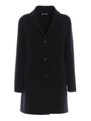 MASSIMO ALBA: cappotti corti - Cappotto Madrid blu navy in panno di lana