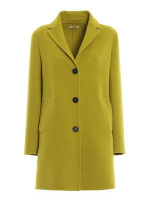 MASSIMO ALBA: cappotti corti - Cappotto Madrid in panno di lana giallo lime