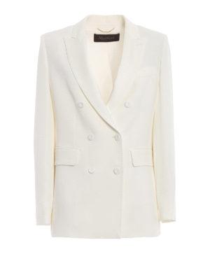 Max Mara: giacche blazer - Blazer Alato doppiopetto in crepe